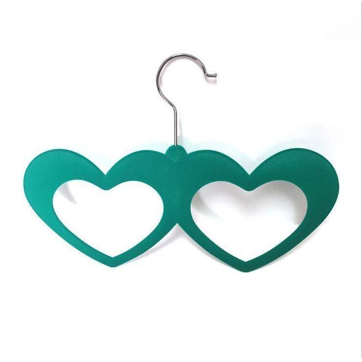Набор вешалок с велюровым покрытием Два сердца, 5 штук