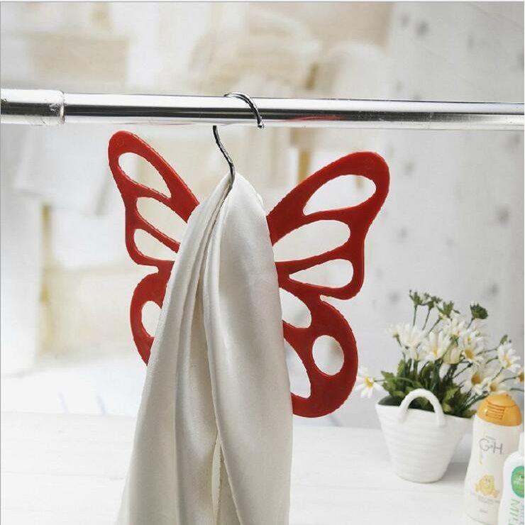 Набор вешалок с велюровым покрытием Бабочка, 5 штук