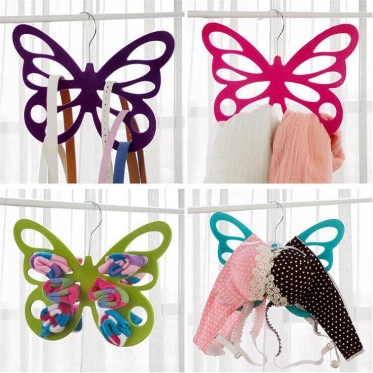 Набор вешалок с велюровым покрытием Бабочка