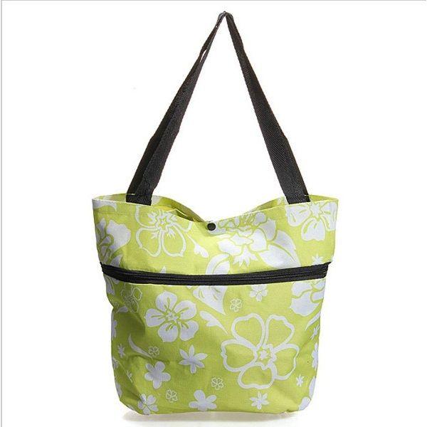Складная сумка на колесиках (Цвет: Зеленый)
