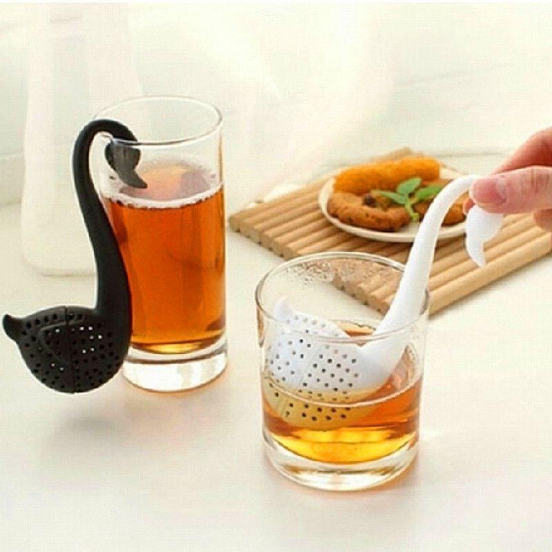 Силиконовое ситечко для заваривания чая Лебедь