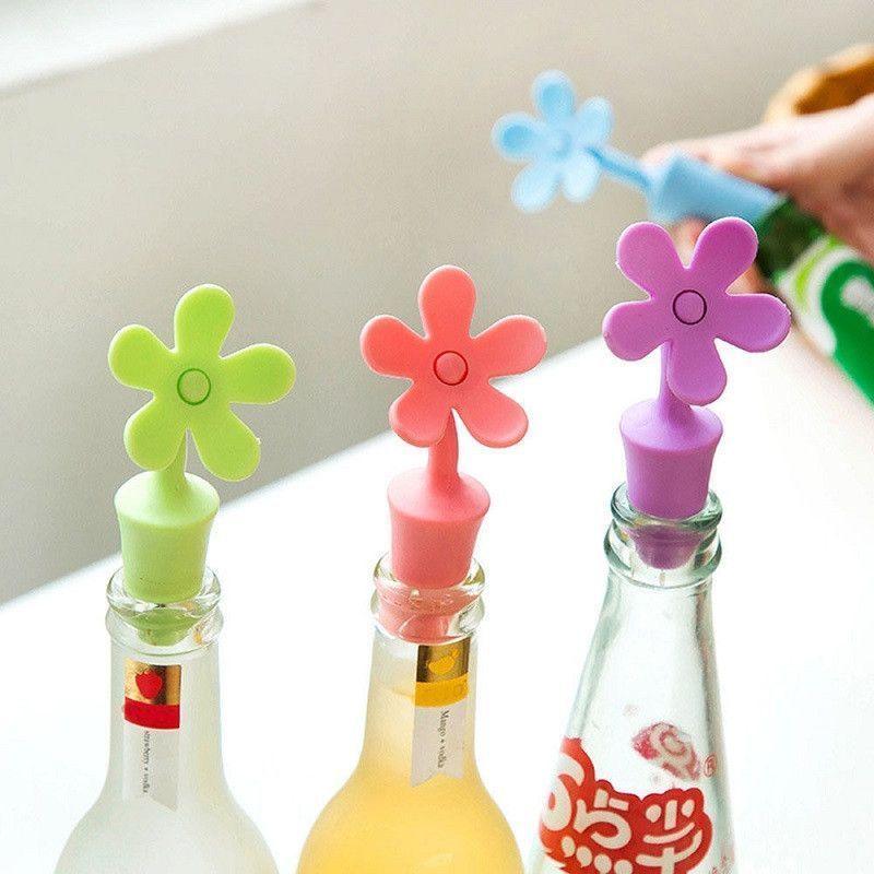 Силиконовая пробка для бутылок Flower