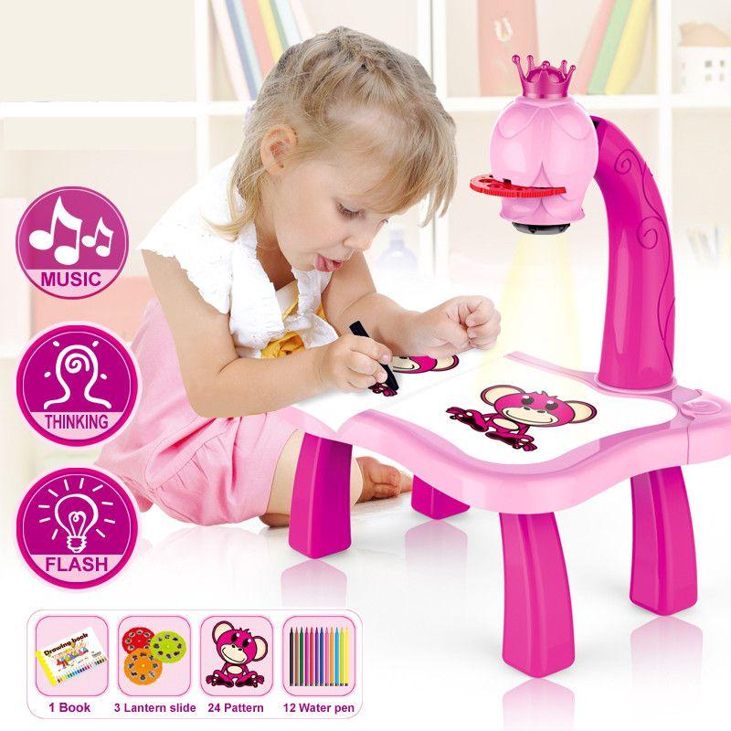 Детский проектор для рисования со столиком Projecnor Painting (Цвет: Розовый)