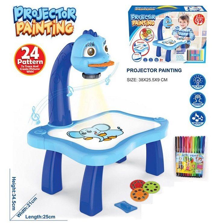 Детский проектор для рисования со столиком Projecnor Painting (Цвет: Синий)