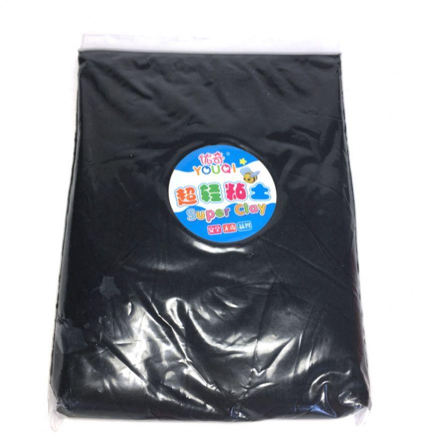Масса для лепки цветная Super Clay (Цвет: Черный)