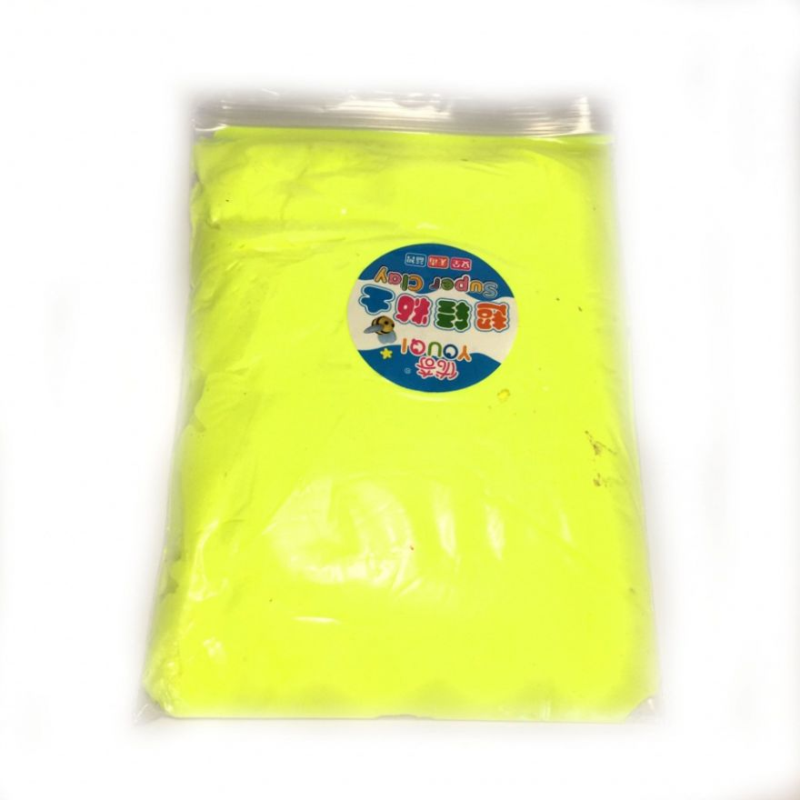Масса для лепки цветная Super Clay (Цвет: Желтый)