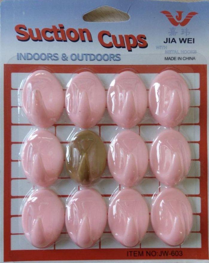 Набор пластмассовых крючков Suction Cups, 12 шт