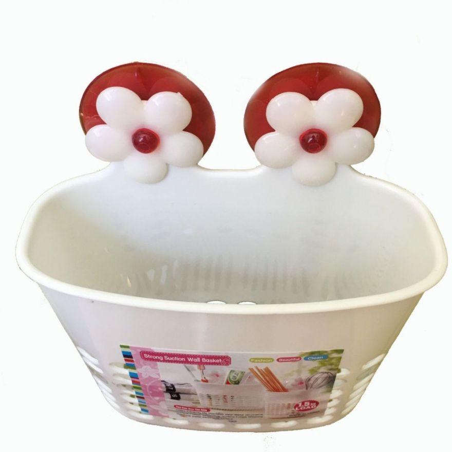 Органайзер для ванных принадлежностей на присосках, Strong Suction Wall Basket
