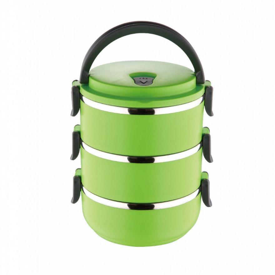 Термо ланч-бокс из нержавеющей стали, 2,1 л (Цвет: Зеленый)