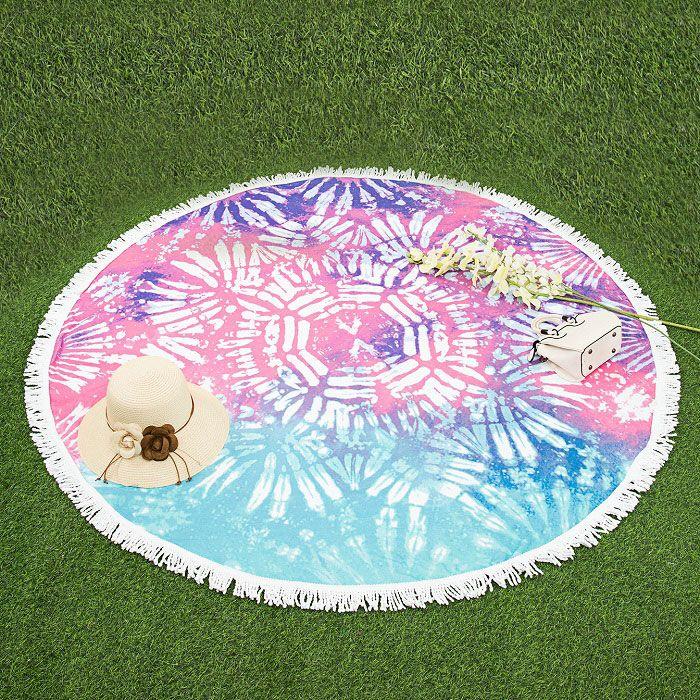 Круглое пляжное полотенце с орнаментом
