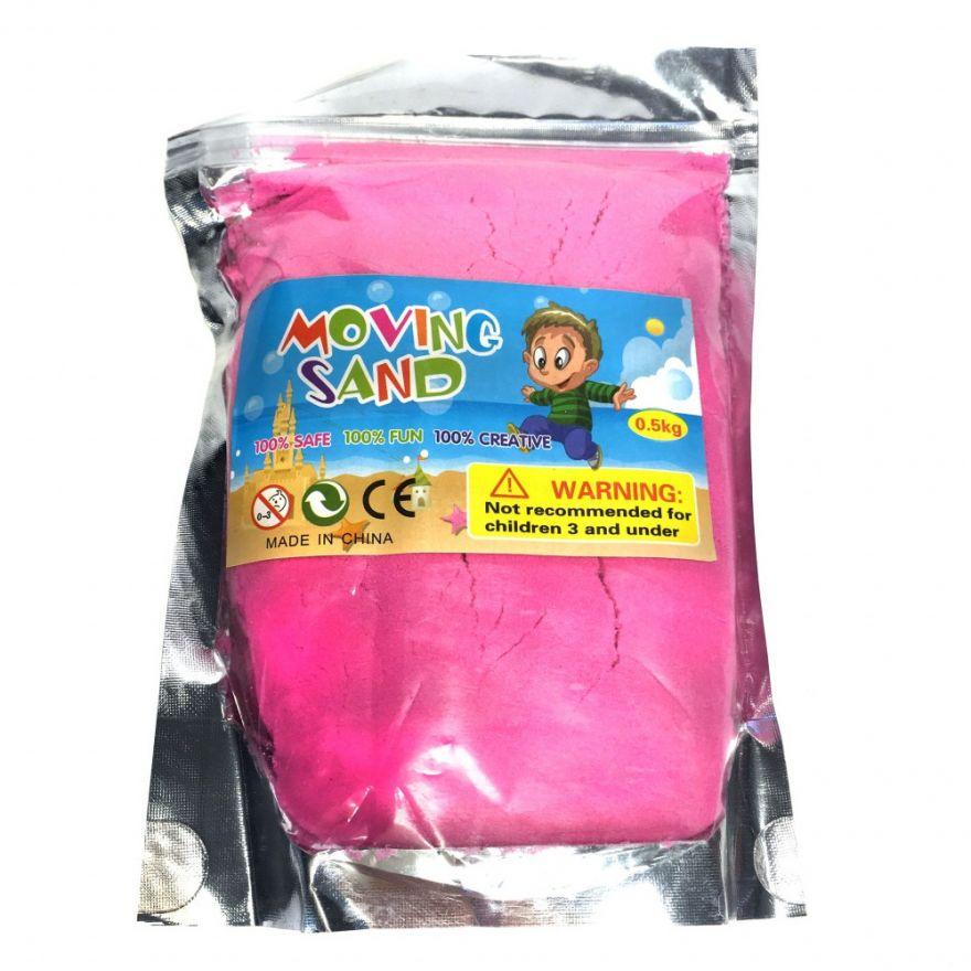 Кинетический песочек Moving Sand, 0.5 кг (Цвет: Розовый)