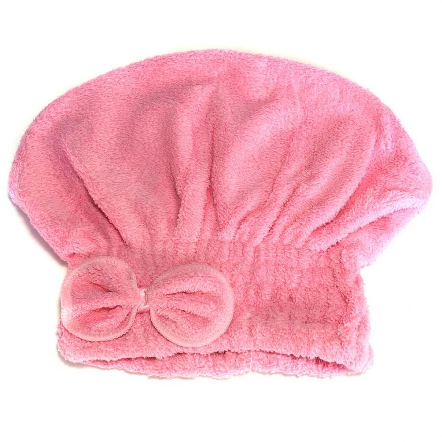 Мягкая махровая шапочка для быстрой сушки волос