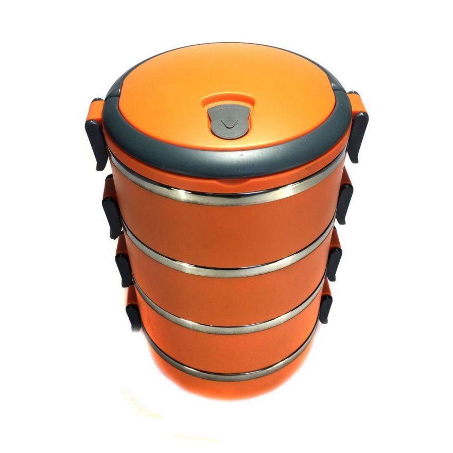 Термо ланч-бокс из нержавеющей стали, 2,8 л (Цвет: Оранжевый)