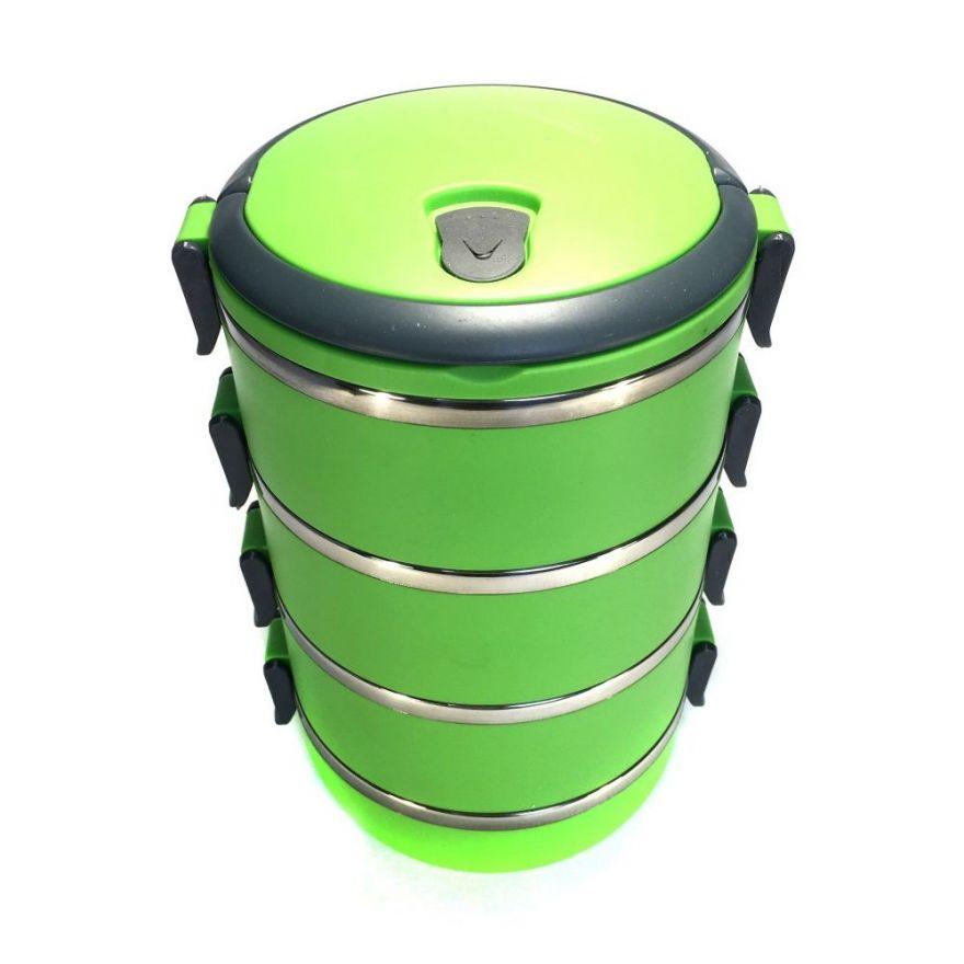 Термо ланч-бокс из нержавеющей стали, 2,8 л (Цвет: Зеленый)