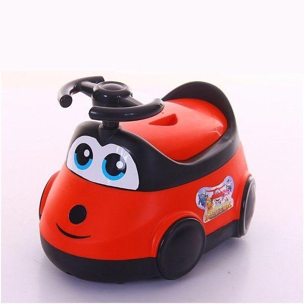 Детский горшок-машинка (Цвет: Красный)