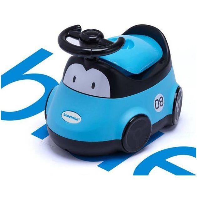 Детский горшок-машинка (Цвет: Голубой)