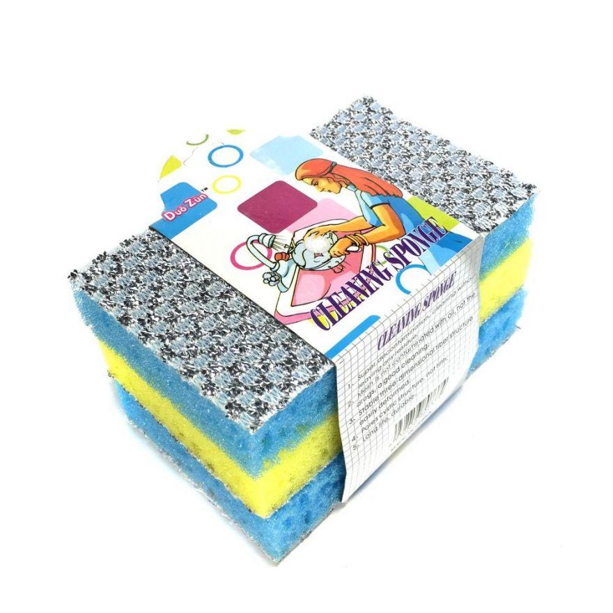 Набор двусторонних губок для мытья посуды Cleaning Sponge