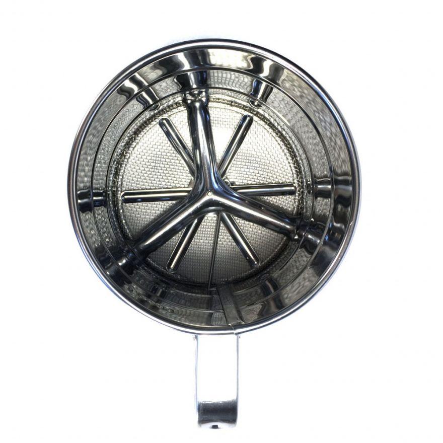 Кружка - сито для просеивания муки механическая из нержавеющей стали, 250 г