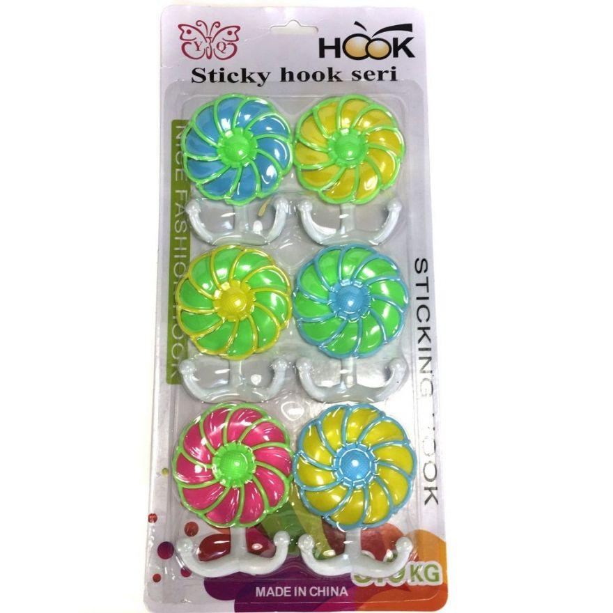 Набор двойных крючков Sticky Hook Seri