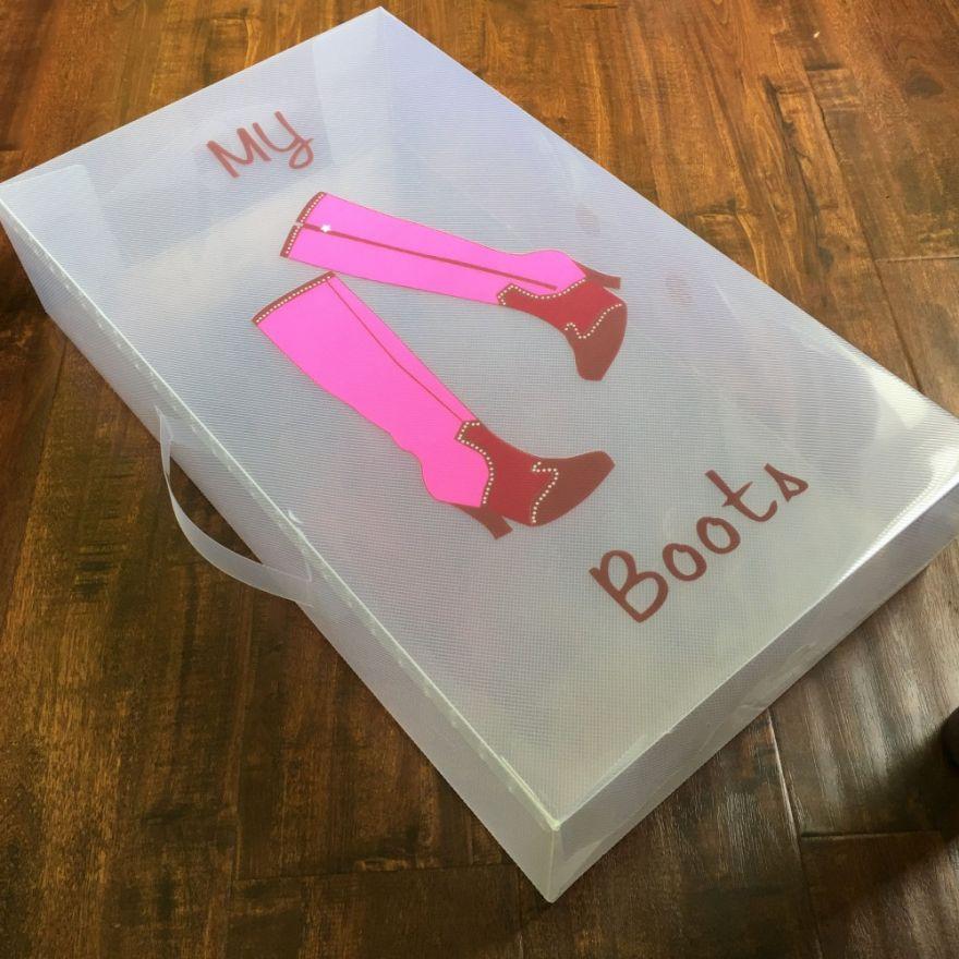 Пластиковая коробка для хранения высокой обуви, 30*11*52 см