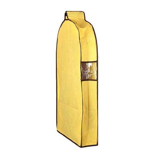 Подвесной объёмный чехол на молнии для верхней одежды 57х30х137 см