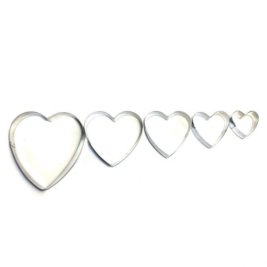 Формы кондитерские кольцо для выкладки выпечки Cookie Cutter (Форма: Сердце)