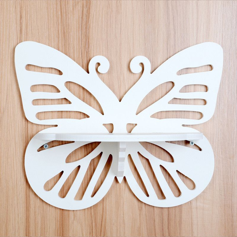 Настенная резная полка Бабочка