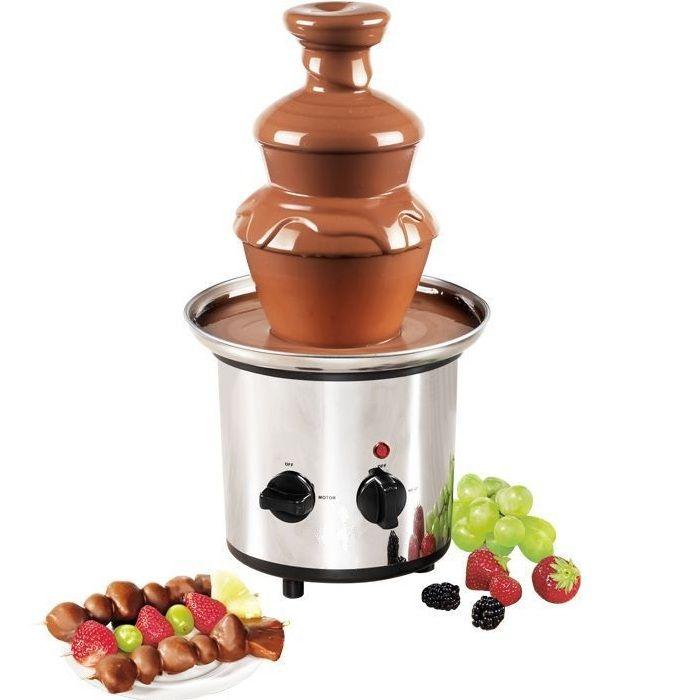 Шоколадный фонтан-фондю Chocolate Fondue Fountain (3 яруса)