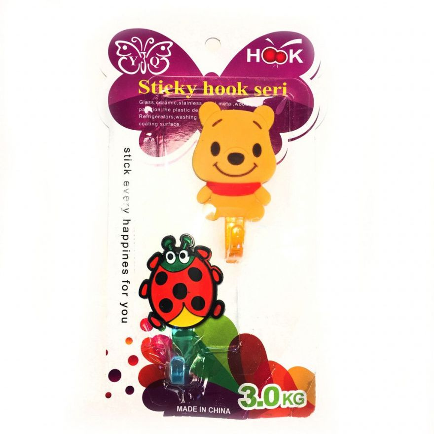 Набор настенных крючков Sticky Hook Seri, 2 шт