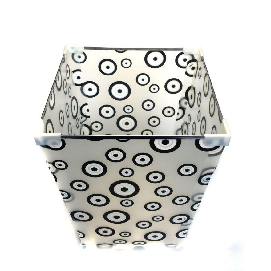 Пластиковая, сборная высокая корзина для хранения вещей с металлическим каркасом, 21х27х21 см.