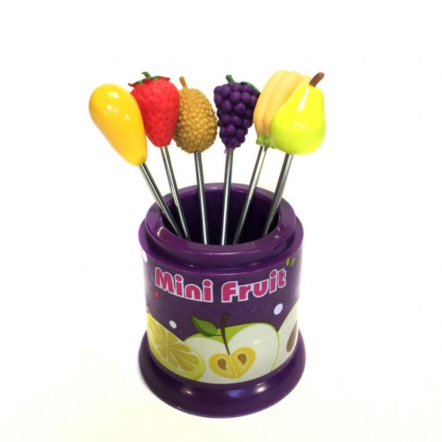Набор фруктовых вилок для канапе Fruit Fork, 6 шт