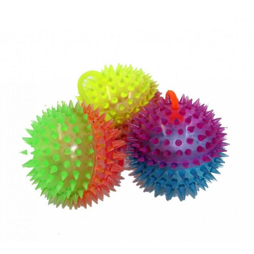 Светящийся мяч-попрыгун Ёжик (Диаметр: 7,5 см)
