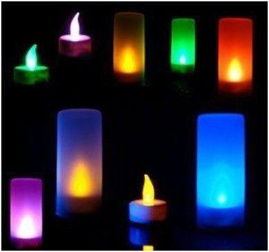 Светодиодная свеча Colorful Color Small Night Lights