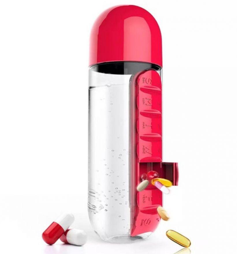 Бутылка с органайзером для таблеток Pill & Vitamin