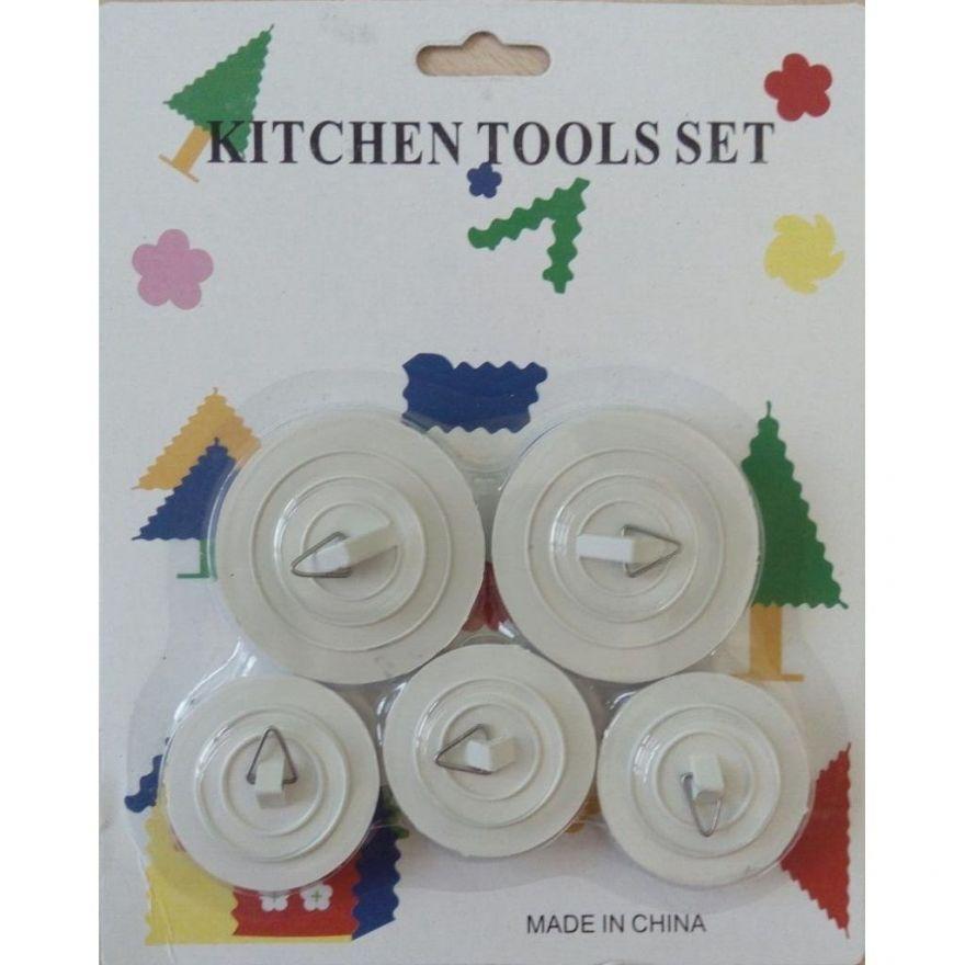 Набор заглушек для сливного отверстия Kitchen Tool Set, 5 шт.