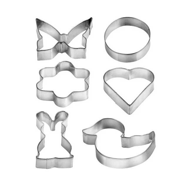 Формочки для печенья Cookie Cutter, 6 шт