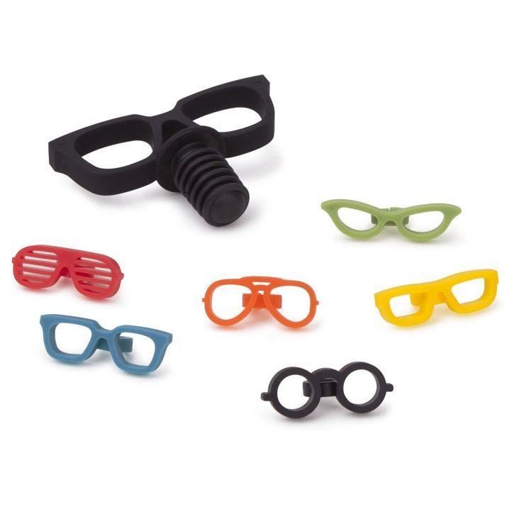 Набор из 6 маркеров для бокалов и пробки-стоппера для бутылки Glasses