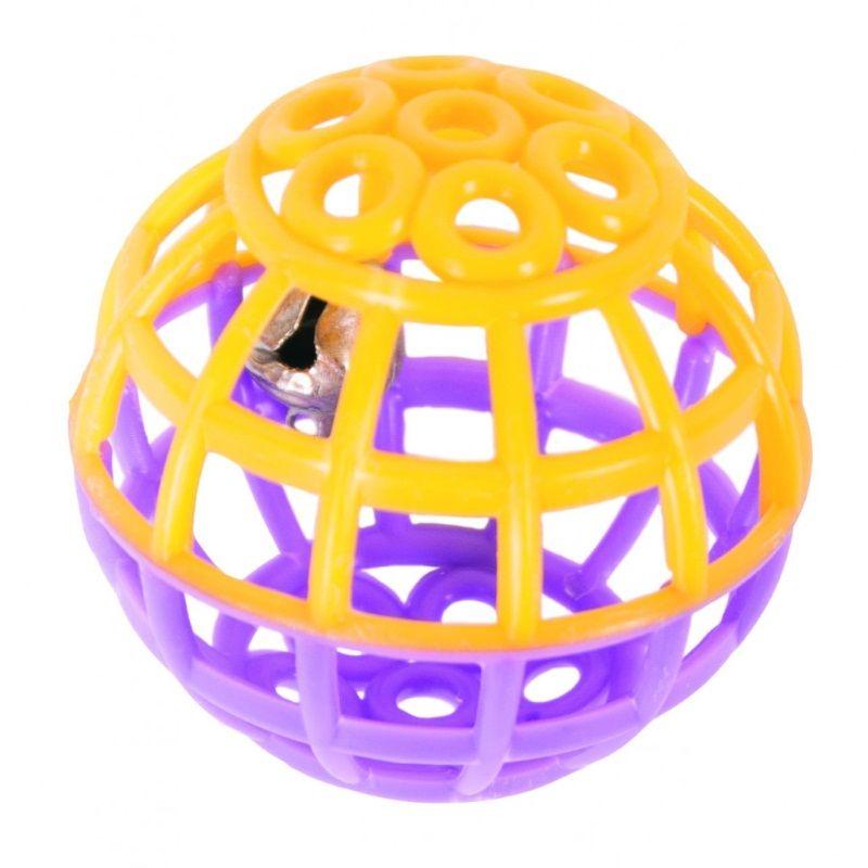 Игрушка для кошек Шарик с колокольчиком, набор 6 шт.