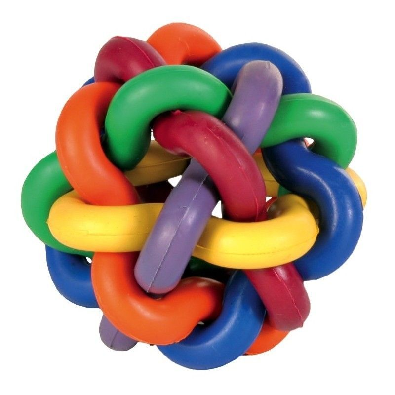 Игрушка для собак Узловой мячик с бубенчиком (Диаметр: 10 см)