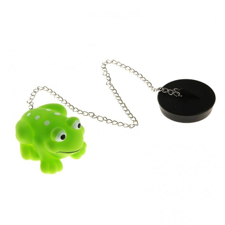 Пробка для ванны с игрушкой (Персонаж: Лягушка)