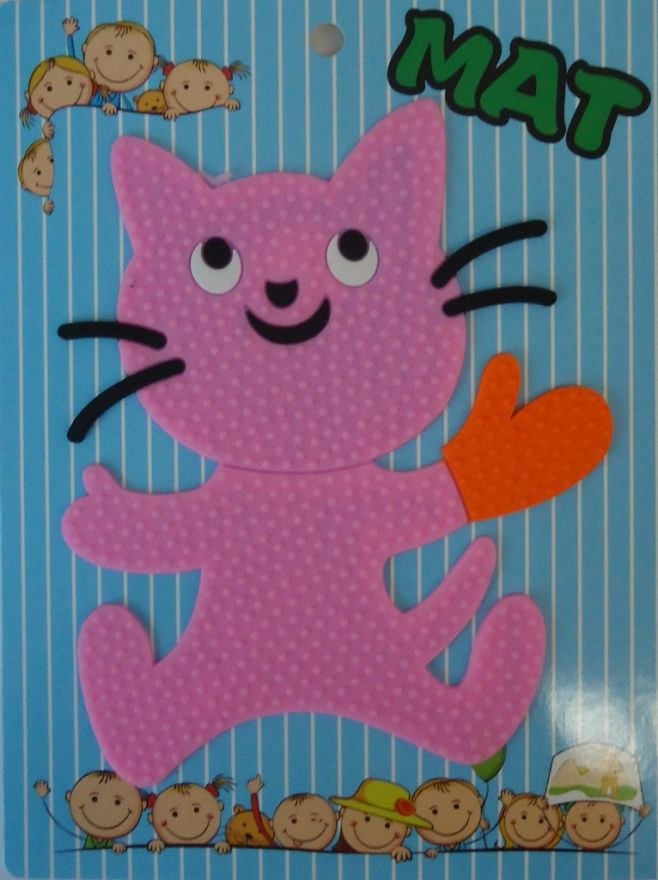 Противоскользящий детский коврик Suction Mat (Персонаж: Кошка)