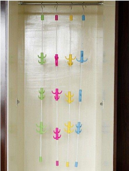 Вешалка для одежды с крючками Канат