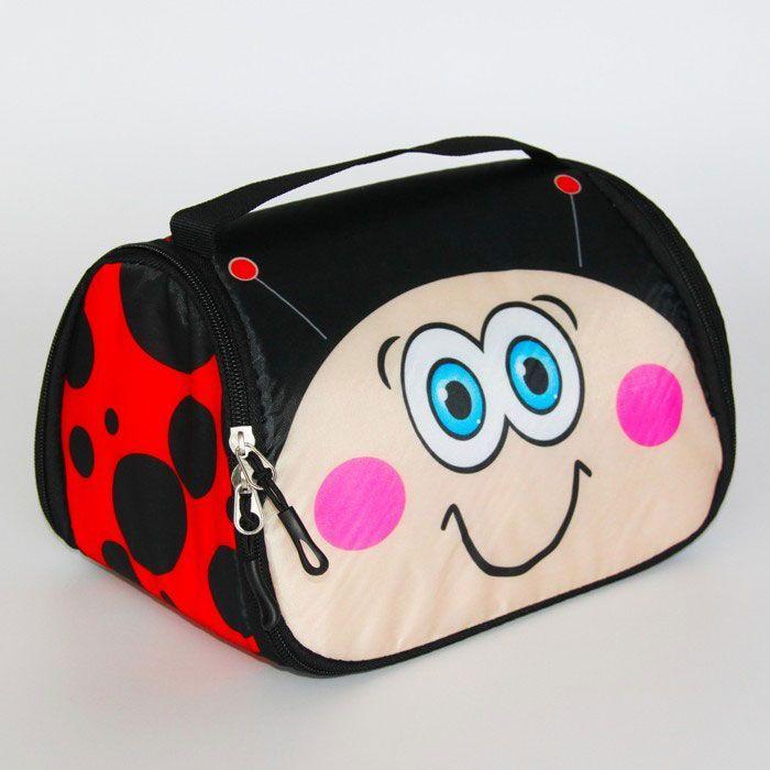 Детская сумка-холодильник для обедов Snack Pets ( Персонаж: Божья коровка )