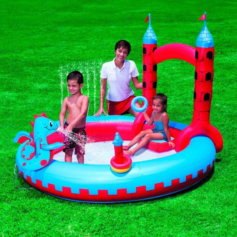 Надувной игровой центр для детей Interactive Castle Play Pool