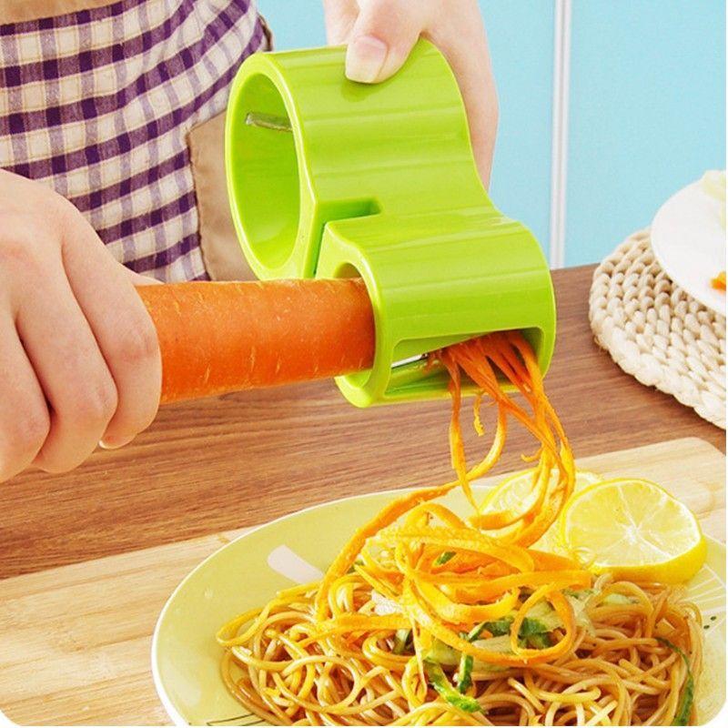 Нож спиральный двойной с точилкой для ножей Spiral Cutter Sharpener