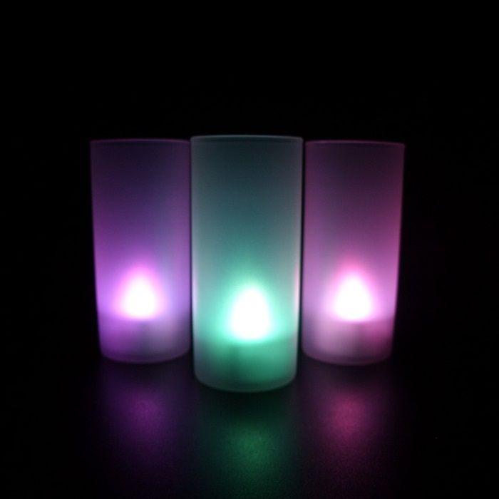Светодиодная свеча Led Candle в стакане