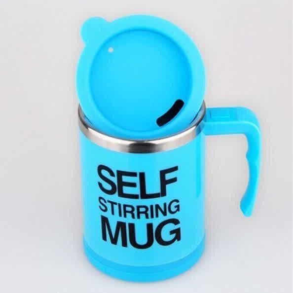 Кружка - миксер Self Stirring Mug (Цвет: Голубой)