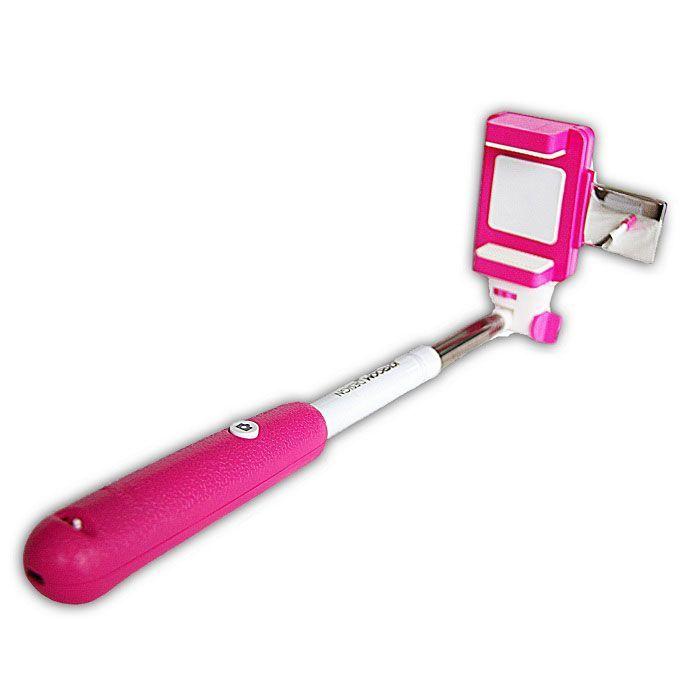 Монопод с треногой и зеркалом JoyRoom (Цвет: Розовый)
