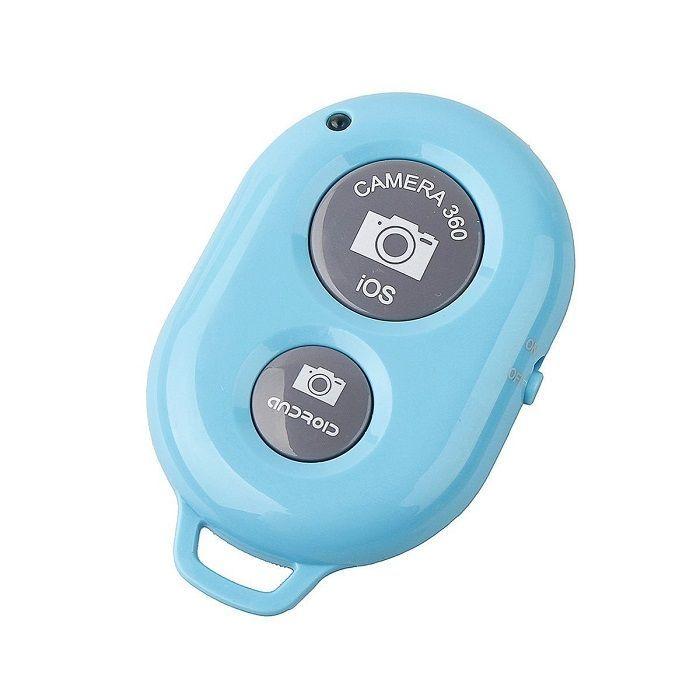 Кнопка-Bluetooth для селфи (Цвет: Голубой)