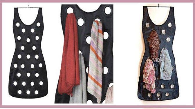 Органайзер для шарфов и платков Платье